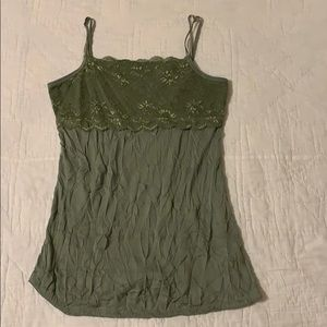 Sage Green Lace Cami